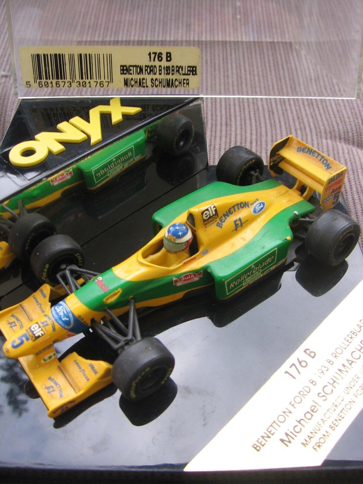 MSC Schumacher f1 BENETTON BENETTON BENETTON FORD b193b pattini in linea 1993 1 43 OVP  87512b