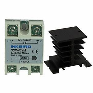 Heat Sink Inkbird SSR - 25DA, Black Heat Sink Inkbird SSR Solid State Relay