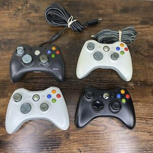 Lot of 4 OEM Microsoft Xbox 360 Wireless Controllers --  As is parts/repair