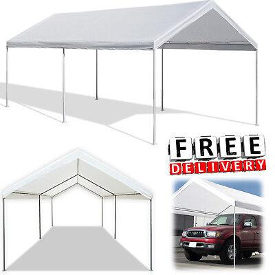 Caravan Canopy 10x20 Frame Domain Carport Car Auto Garage Shelter Cover Tent 613043864067 Ebay