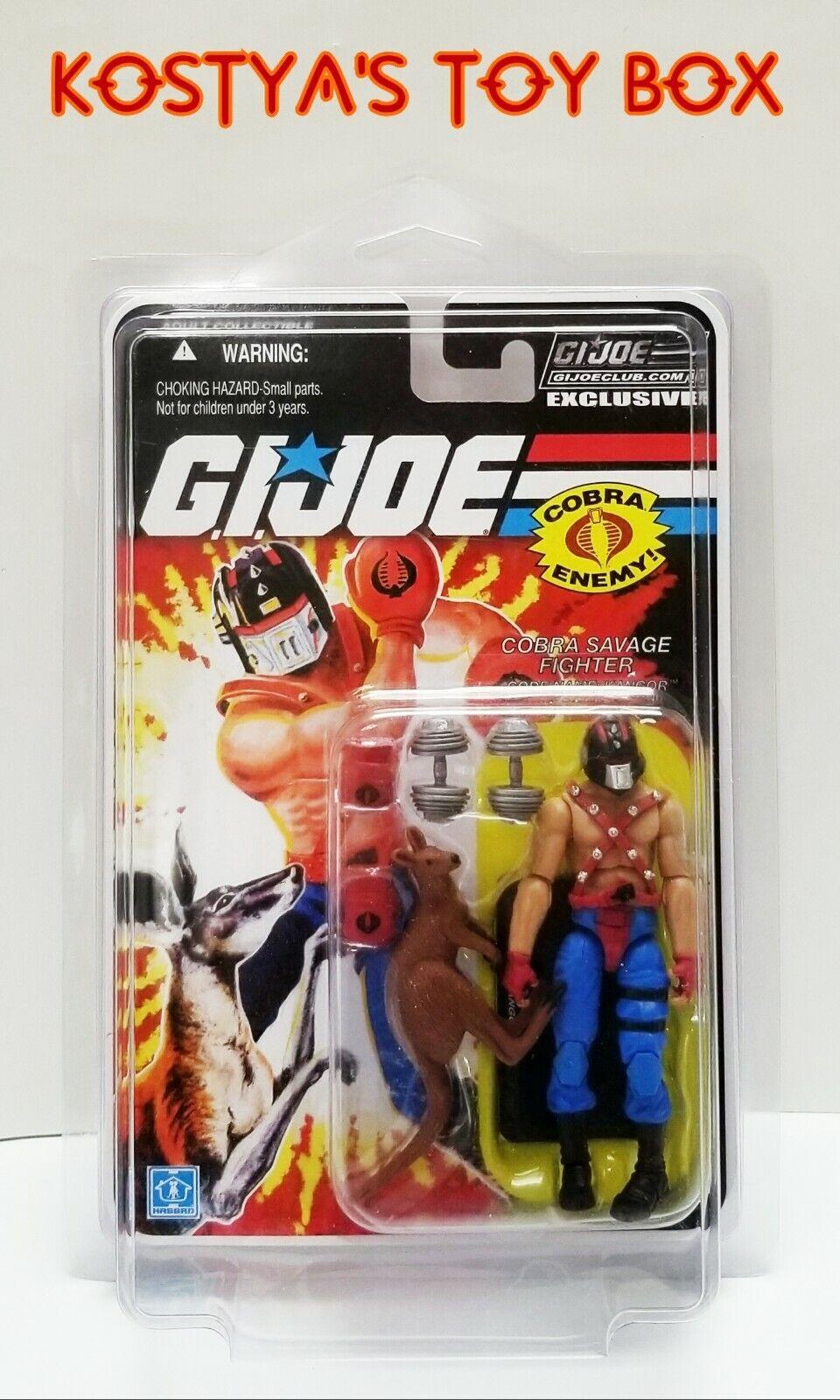 GI Joe KANGOR 2018 MOC MOC MOS Collectors Club 7.0 25 TH 30TH Action Figur