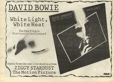 5/11/83PN56 ADVERT: DAVID BOWIE SINGLE WHITE LIGHT, WHITE HEAT 7X11