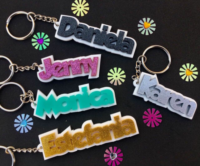 personalised personalized keychain keyring name bag tag ebay