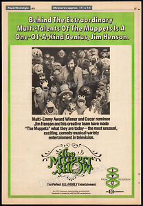 THE-MUPPET-SHOW-Original-1975-Trade-AD-TV-promo-poster-JIM-HENSON-KERMIT