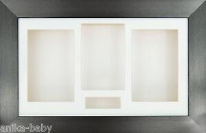 Grand-etain-3D-BOITE-Cadre-d-039-affichage-Creme-Support-objets-encadrement