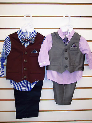Infant Boys Starting Out 4-Pc. Vest Suit Size 3/6 Months - 24 Months