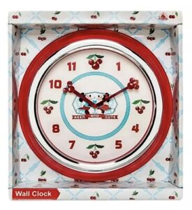 Disney Parks Mickey & Minnie Mouse Keen and Cute Cherries Retro Wall Clock