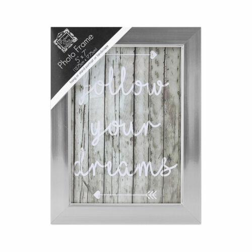 Coloured Wooden Photo Frame Tallon Choose Size Silver