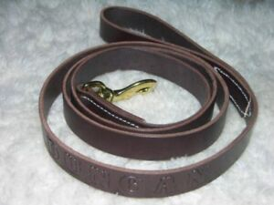 Leather-Dog-Leash-Lead-Personalized-Amish-Made-6-039-by-1-034