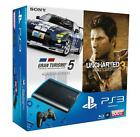 Sony Playstation 3 Super Slim Gran Turismo 5 Academy Edition + Uncharted 3: Drake's Deception 500 GB Charcoal Black Spielekonsole (PAL)