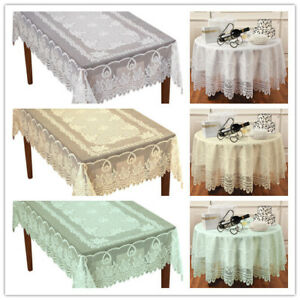 Vintage Lace Tablecloth Dining Table Cloth Cover Topper
