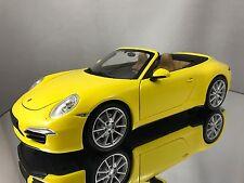 Minichamps Porsche 911 (991) Carrera S Cabriolet Cabrio Yellow Diecast Car 1/18