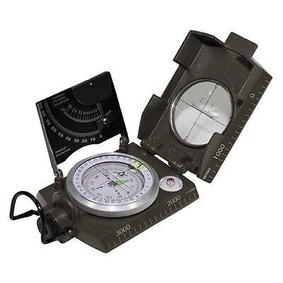 US Kompass M2 Oliv Kunststoffgehäuse Extra starker Magnet 2 Wasserwaagen