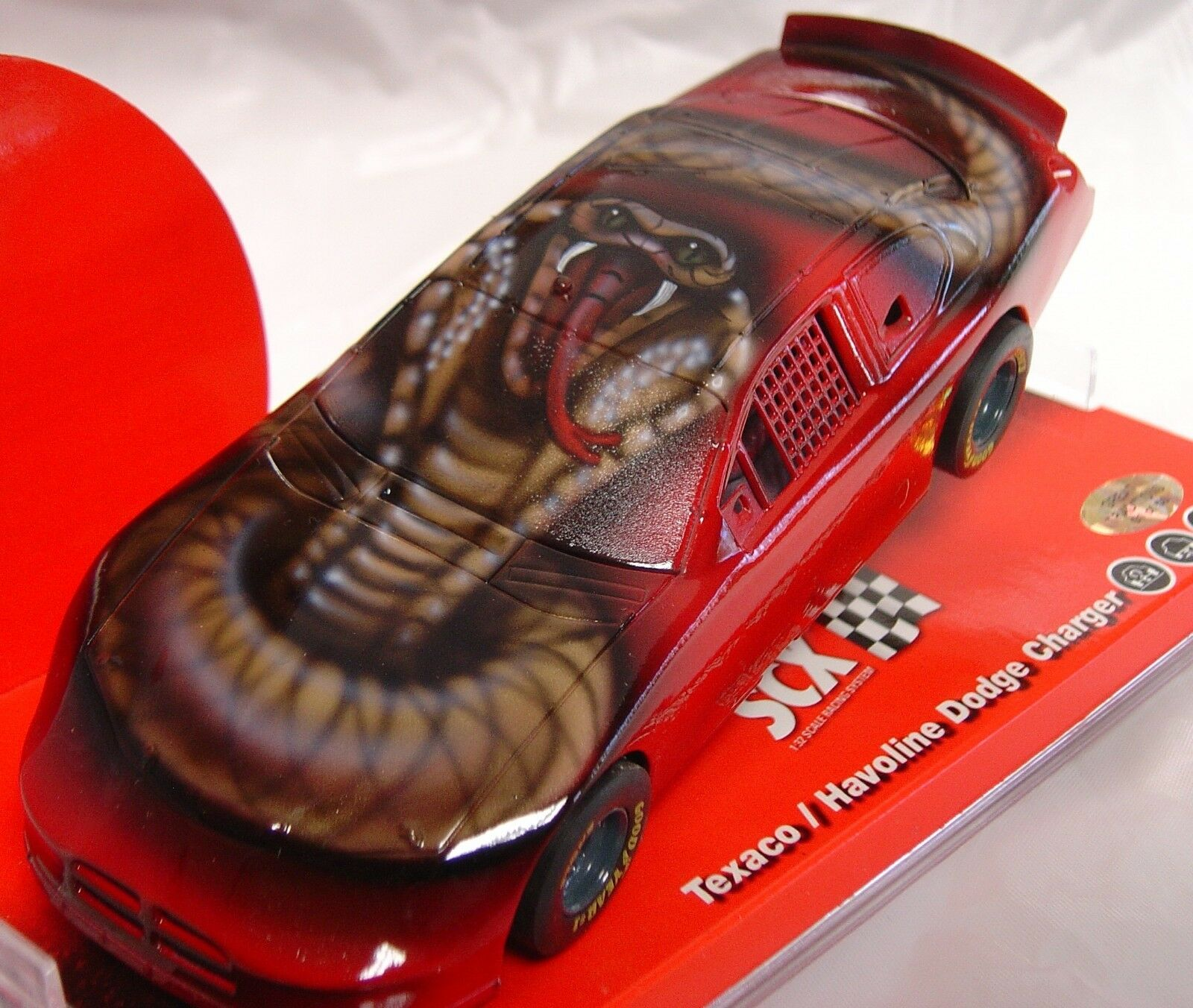 SCX 63420 DODGE CHARGER 2010 NATIONAL CHAMPIONSHIP SPECIAL ED. RED 132 SLOT CAR