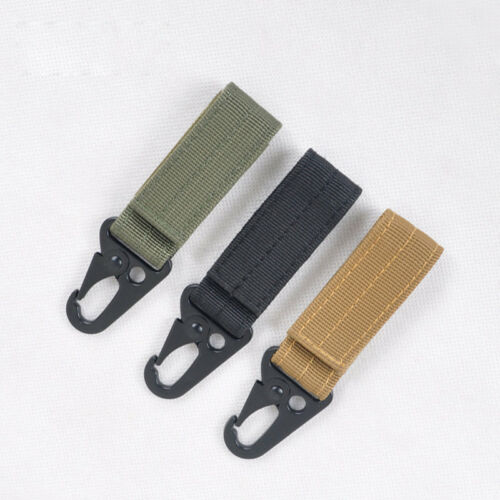 Carabiner Tactical Nylon Webbing Backpack Buckle MOLLE Hanging Buckle Hook
