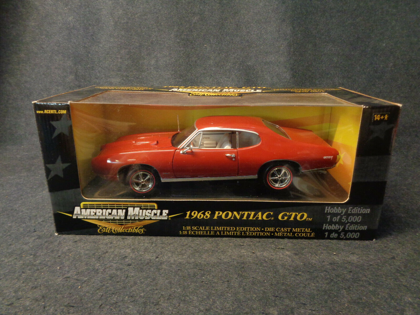 1968 PONTIAC GTO - AMERICAN MUSCLE ERTL COLLECTIBLES DIE CAST SCALE 1 18 -L13-FL