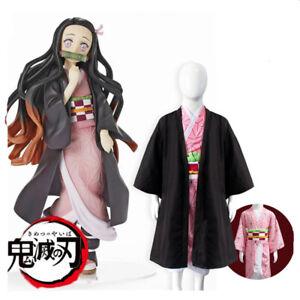 Demon Slayer Kamado Nezuko Kid Girl Cosplay Kimono Costume ...