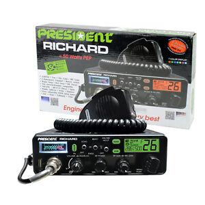 Präsident Richard ASC CB Exportfunkgerät für Funkamateure 10 - 12 Meter, AM / FM