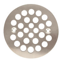 Satin Nickel Round Shower Grate Drain 4-1/4 Replacement Cover Fiberglass Stall on sale