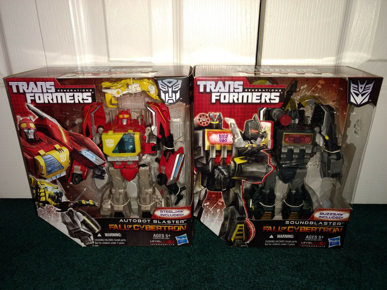 Blaster Steeljaw + Soundblaster Buzzsaw Transformers FOC Generations Hasbro 2012