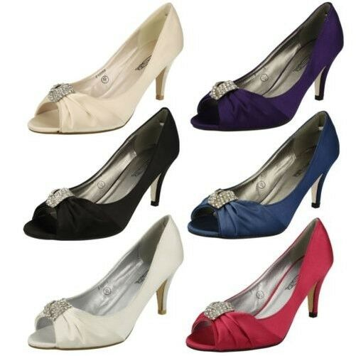 Gentleman/Lady Peep Toe Spot On Diamante Heels Shopping Comfortable feeling First quality Shopping Heels promotion 096005