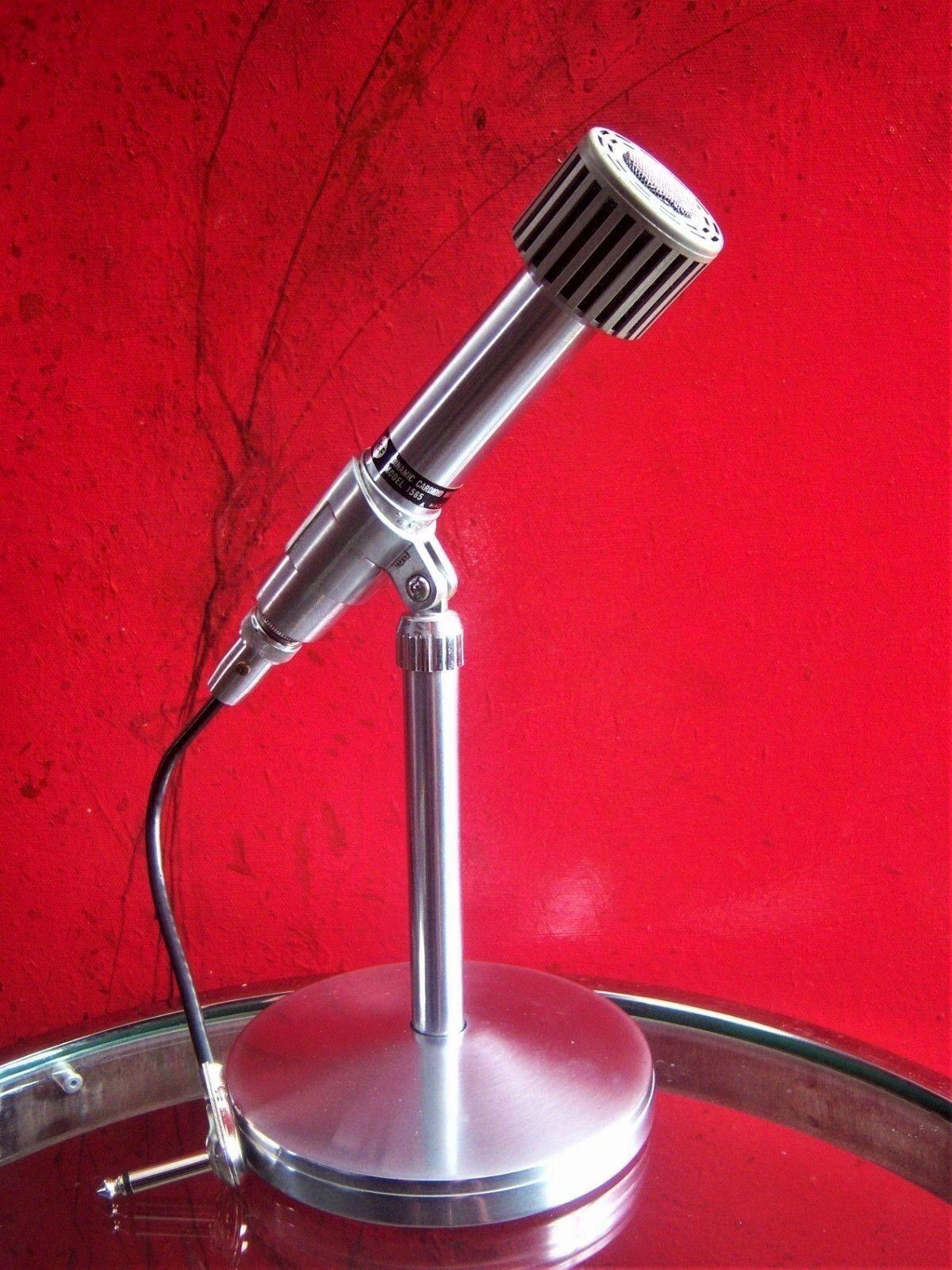 Vintage RARE 1960's Italian RCF 1565 dynamic cardioid microphone High Z harp old