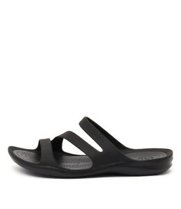 New-Crocs-Swiftwater-Sandal-Black-Black-Womens-Shoes-Casual-Sandals-Sandals-Flat
