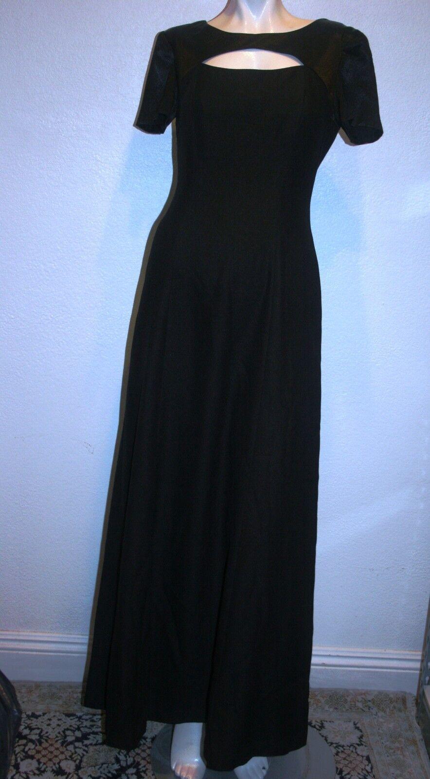 Papell Boutique Kleid Abendkleid Schwarz Kurzarm 4