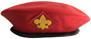 Boy-Eagle-Scout-Uniform-Red-Wool-Beret-Cap-Hat-2XL-XXL-Extra-Large-BSA