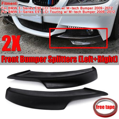 M TECH Front Bumper Lip Splitter For BMW E90 E91 335i 328i LCI 2009-2012