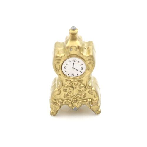 Dollhouse jouet miniature 1:12 salon de porcelaine horloge H 2.7 *tr