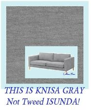 Item 2 Ikea Karlstad 3 Seat Sofa Cover Knisa Light Gray Multiship Slipcover New