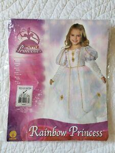 Rubie's Girl's Rainbow Princess Costume SZ/M (5-7) Excellent Condition
