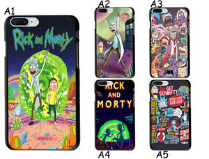 Rick-and-Morty-Main-Theme-Soft-TPU-Case-Cover-For-iPhone-X-6S-7-Plus-5S-S8-Plus