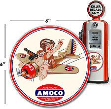 "9.5/"" AMERICAN WINSHIELD BOX VINYL DECAL STANDARD AMOCO GASOLINE OIL AMERI-3"
