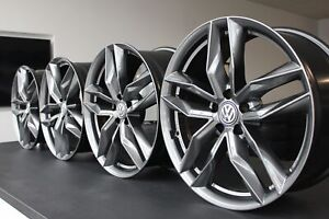 4x 18Zoll Felgen VW Tiguan Touran Beetle EOS Golf Passat T-ROC MW08 Gunmetal
