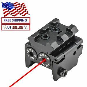 Mini Red Dot Sight Laser Rail Mount Pistol Handgun Low Profile Rifle USA Hunting