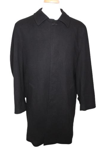 Gianni Versace Men's Black Wool Blend Italian Long