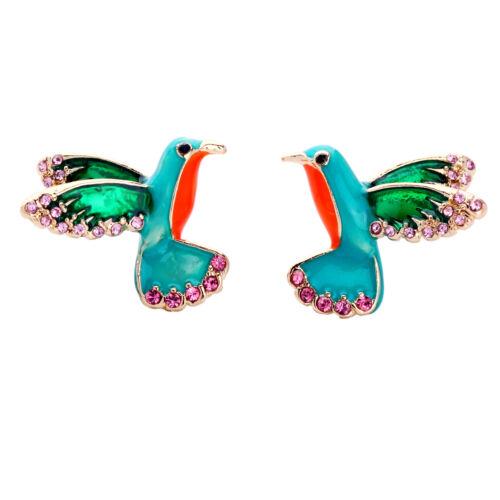 Vert émail oiseaux Simple Boucles D/'oreilles Pour Partie Fashion Jewelry 2017 NEUF ed01178b