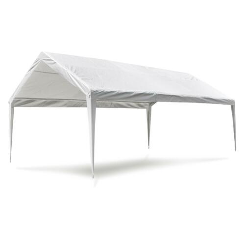 Ersatzdach Dachplane für Partyzelt Pavillon Zelt Festzelt PE 4x6 m weiß Plane