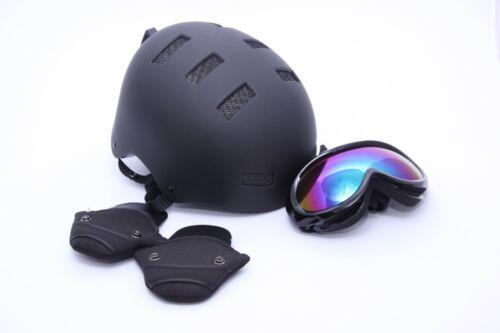Größe S 51-55 cm *NEU* schwarz Odoland Skihelm mit Skibrille Set