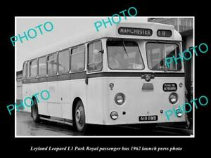 OLD-LARGE-HISTORIC-PHOTO-OF-1962-LEYLAND-LEOPARD-BUS-LAUNCH-PRESS-PHOTO-1