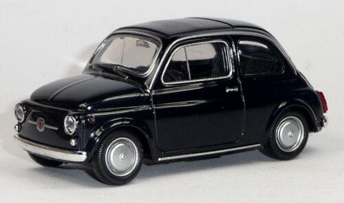 FIAT 500 Nuova Modellauto Spritzguss ca 8,3 cm in schwarz Neuware von WELLY