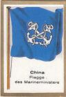 DRAPEAU CHINA CHINE ministre Ministère Marine Minister FLAG CARD 30s