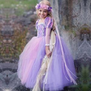 5c4ea7ab18d74 Details about Girls Princess Dress Sofia Rapunzel Fancy Cosplay Dresses  Long Maxi Gown for Kid