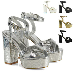 New-Womens-Strappy-Ankle-Strap-Platform-Sandals-Ladies-Peep-Toe-Shoes-Size-3-8