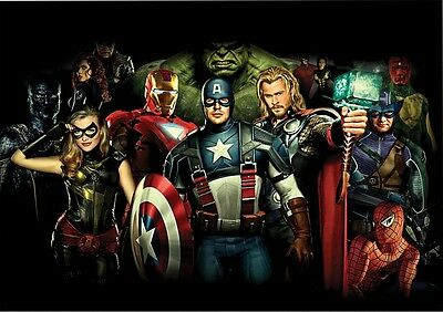 STICKER AUTOCOLLANT POSTER A4 COMICS MARVEL AVENGER.IRON MAN THOR HULK N°3