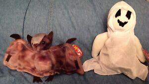 1c448c98e3e SET OF 2 HALLOWEEN BEANIE BABIES   BATTY (TIE DYE BAT)   SHEETS ...