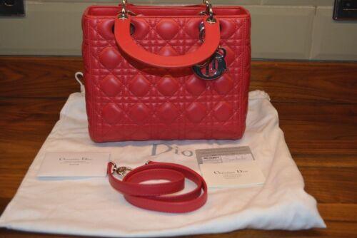 tas Dior lamsvacht rood Christian Lady Cal44551 T8d6xntw
