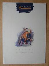 LAMBORGHINI MIURA ROADSTER ZN75 orig 1990s UK Motorfair Press Release - Countach